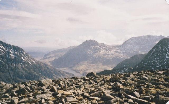 Blockfield on the summit of Mynydd Perfedd