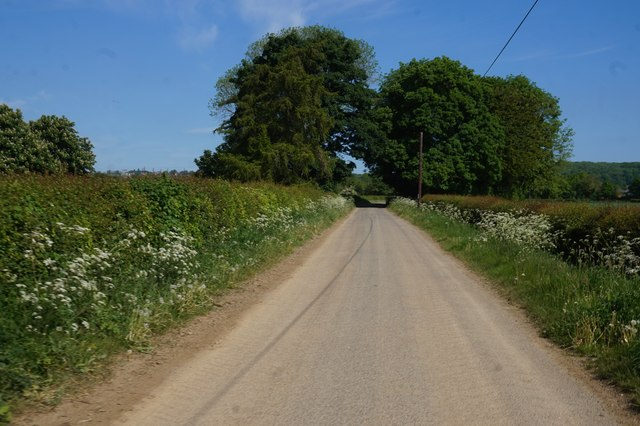 Marton Road towards Sinnington