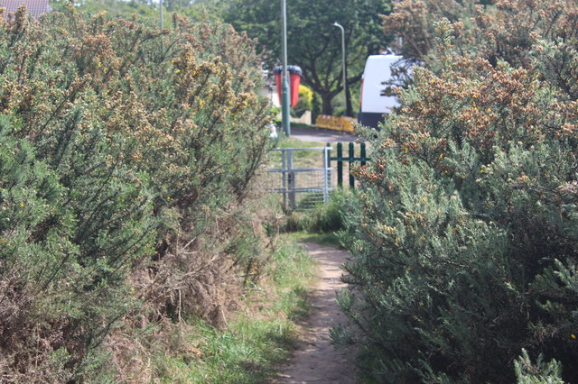 Footpath to gate to Coed Duon View