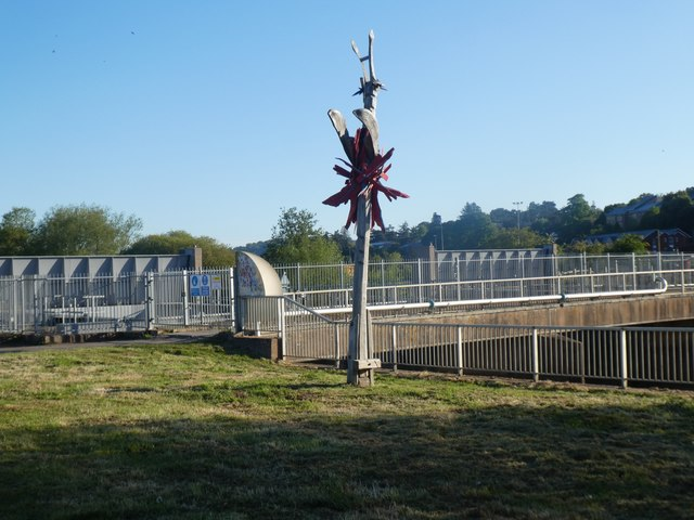 Sculpture by Exeter Flood Scheme by David Smith