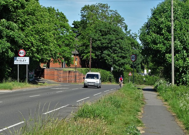 Entering Risley from the west