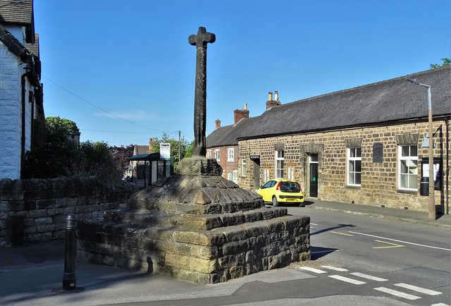 The medieval village cross in Stanton-by-Dale