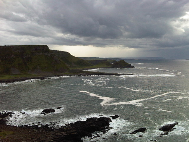 View across the bay to Giant's Causeway