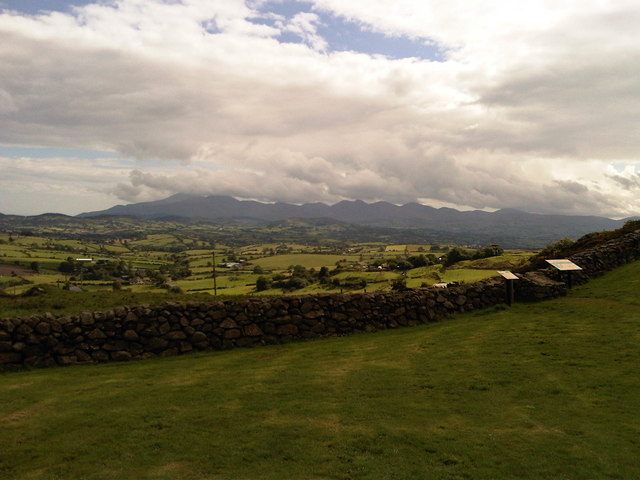 The Mourne Mountains shrouded in cloud