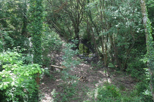 Former trackbed west of bridge on Pennar Lane
