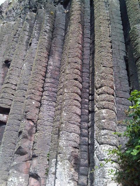 Closeup of Basalt columns at Giant's Causeway