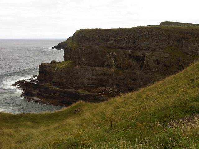 View East across Portnaboe on the Causeway coast
