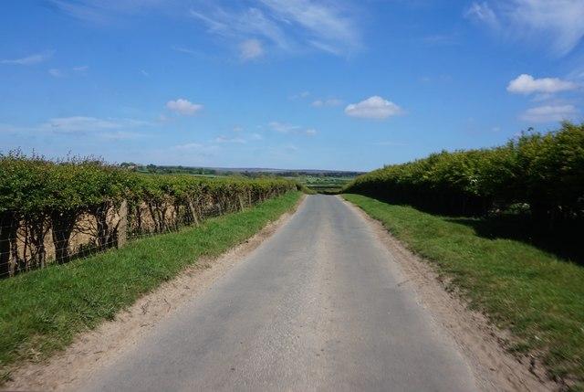 Kirkgate Lane towards Lastingham