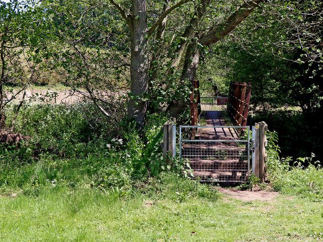 Footbridge near Stableford in Shropshire