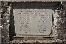 SE7290 : WW1 War memorial plaque by Ian S
