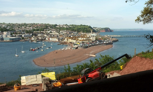 Teignmouth from Homeyards Gardens