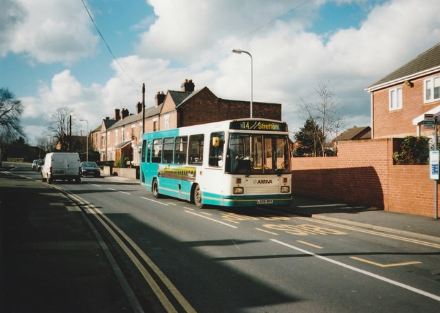 Bus on Bridge Street, Stretton