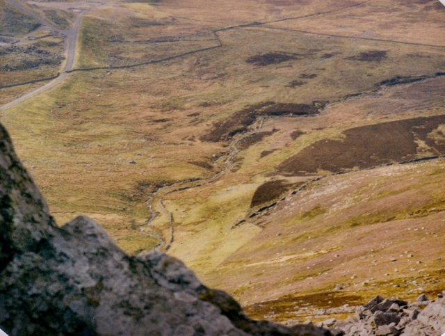 Afon Marchlyn Mawr viewed from the tors on Carnedd y Filiast