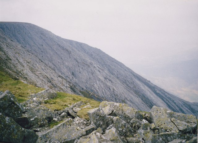 Blockfield on the south-eastern rim of Carnedd y Filiast's Atlantic Cliffs
