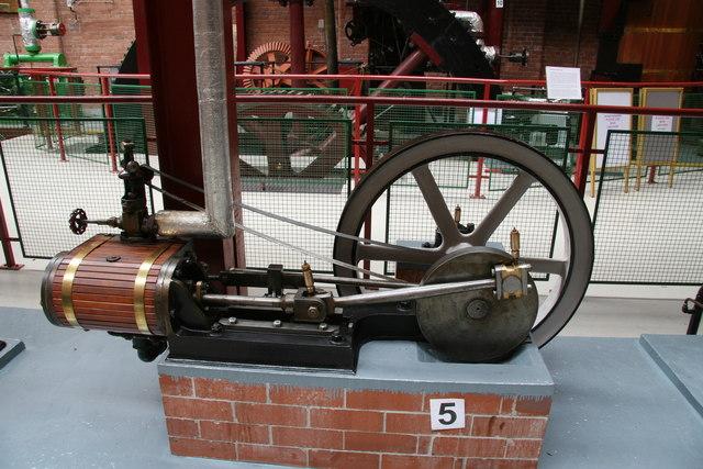 Bolton Steam Museum - horizontal single cylinder engine