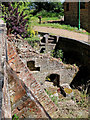 SO7899 : Remains of former mill near Badger in Shropshire by Roger  Kidd