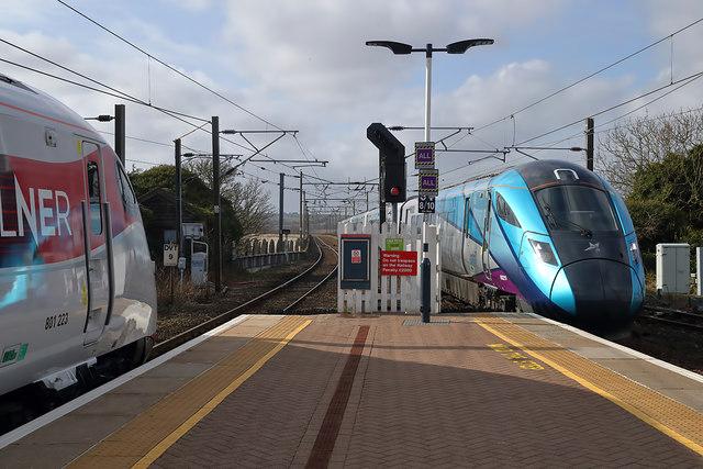 Trains at Berwick Railway Station