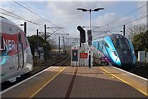 NT9953 : Trains at Berwick Railway Station by Walter Baxter