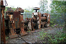 SS6694 : Hafod Works - derelict rolling mill by Chris Allen