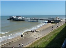 TG2142 : Cromer Pier from New Street by Rob Farrow