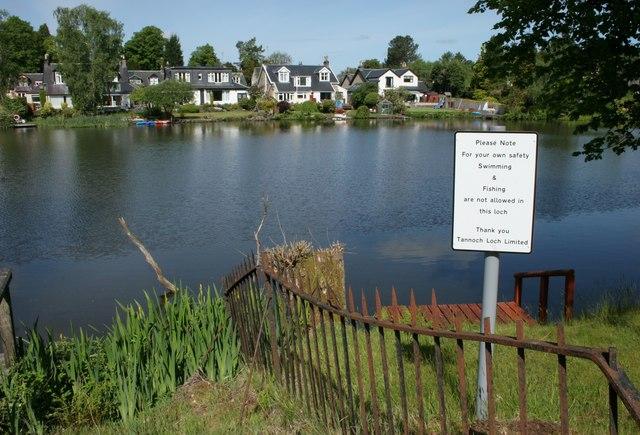 Notice beside Tannoch Loch