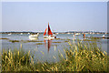 TM0012 : A very high tide at the Strood Channel, West Mersea by Colin Park