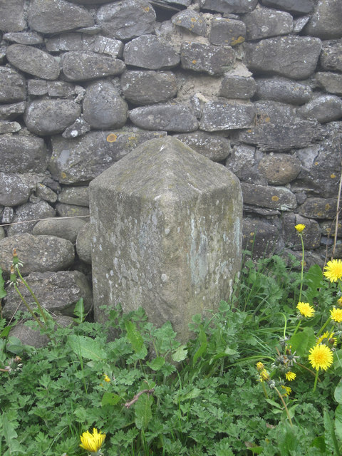 Old Guide Stone in Church Street, Gargrave