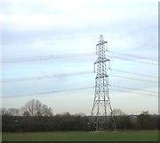 SK1409 : Pylon near Fulfen Wood by N Chadwick