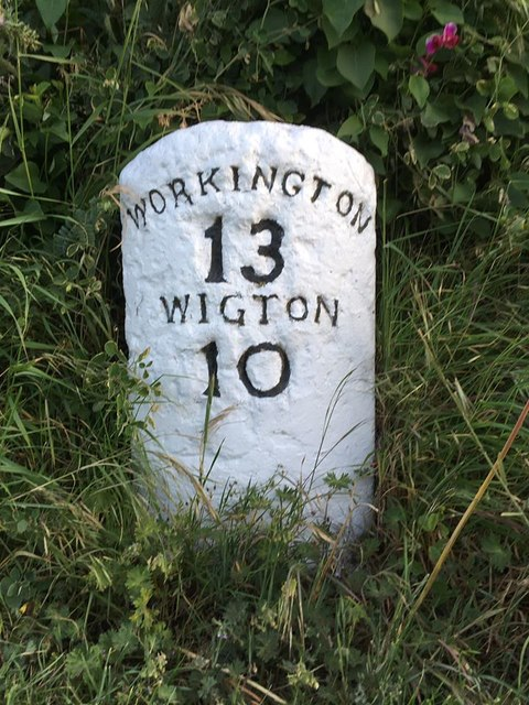 Old Milestone by the unclassified road at Newton Field - 2020