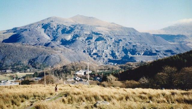 Dinorwig Quarry from near the Snowdon Railway Viaduct