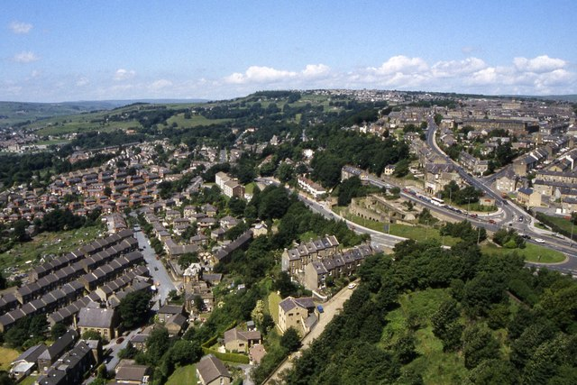 Looking towards the Pye Nest district of Sowerby Bridge from Wainhouse Tower