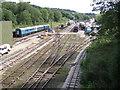 SK2854 : Wirksworth station yard by Paul Brown