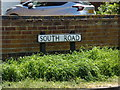TM4189 : South Road sign by Adrian Cable