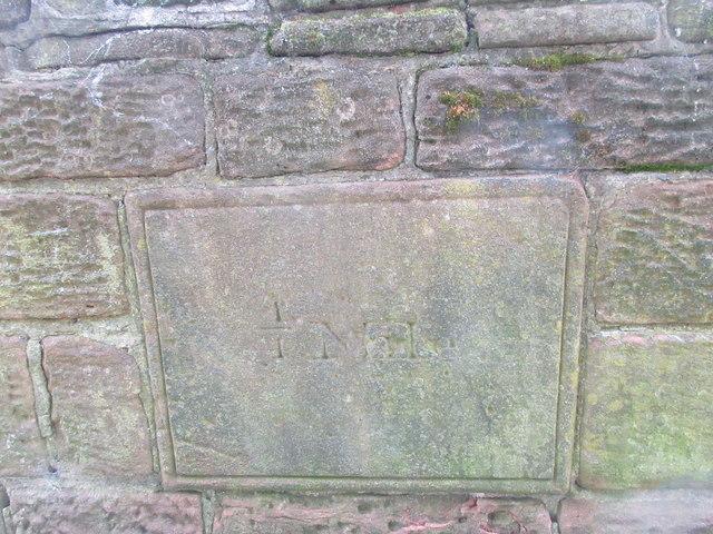 Old Milestone in city walls near Phoenix Tower