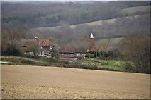 TQ6138 : Dodhurst Farm Oast by N Chadwick