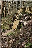 TQ5639 : Sandstone crag, Happy Valley by N Chadwick