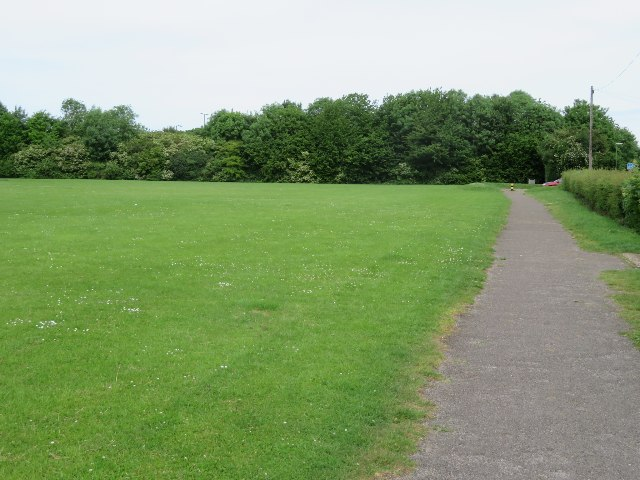 Path by the recreation ground by Sandy B
