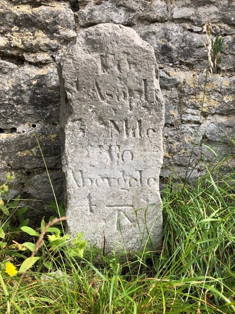 Old Milestone by Glascoed Road, next to Glascoed Lodge