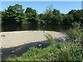 SE3218 : Shingle islet in the River Calder by Christine Johnstone