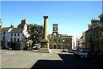SC2667 : Castletown - Market Square and Cornelius Smelt Statue by Colin Park