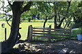 SO1800 : Gate blocked by fence, Ty'r Sais Stables by M J Roscoe