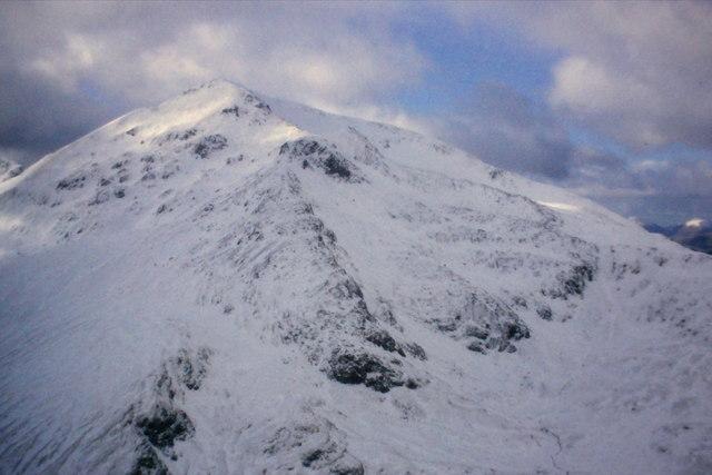 Sgurr a' Mhaim from the north ridge of An Gearanach