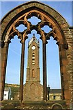 SC2484 : Peel - St Peter's Church ruins and tower by Colin Park