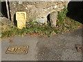ST8364 : A hydrant marker set in stone by Neil Owen