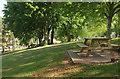 SX8965 : Picnic table, Torbay Hospital by Derek Harper