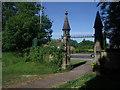 SE3628 : St John's church, Oulton: churchyard gates by Stephen Craven