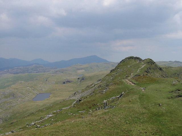 Llyn y Biswail from the Cnicht ridge