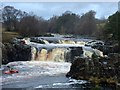 NY9027 : Canoeing at Low Force by John H Darch