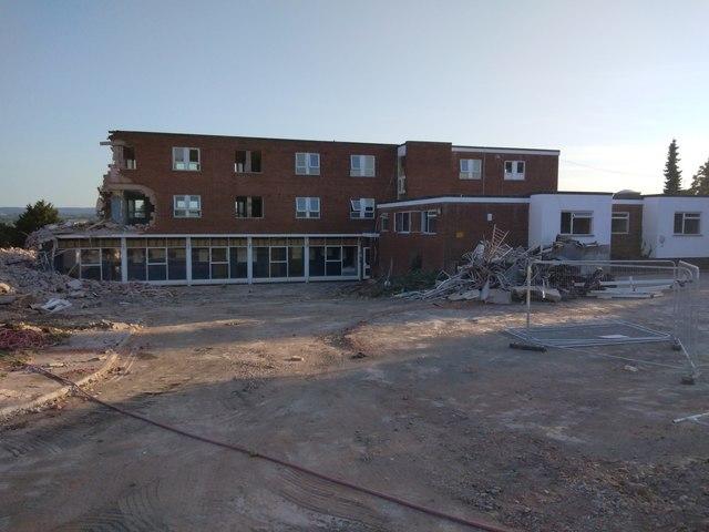 Demolition of Exeter Deaf Academy