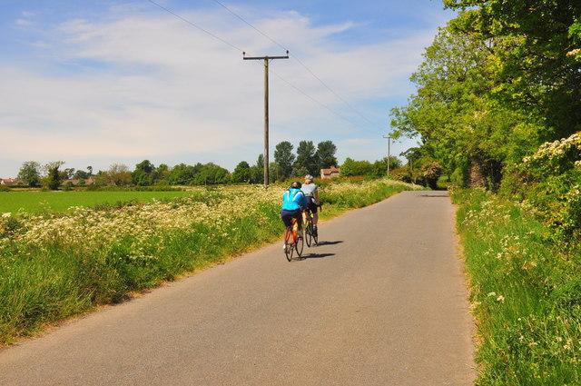 Cyclists, Littleton Drew Lane, Acton Turville, Gloucestershire 2020